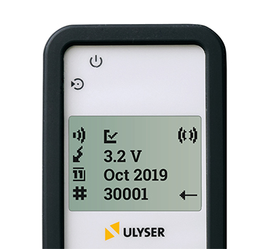 The Ulyser is a battery-powered receiver for acoustic signals with a frequency of 5 to 50 kHz.